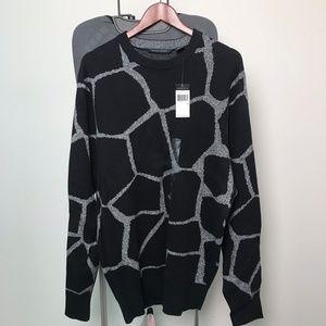 NEW Sean John Pm Black Cotton Blend Sweater 845